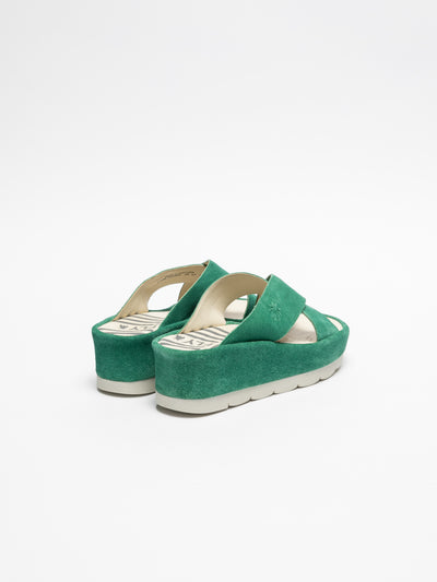 Fly London Green Platform Sandals