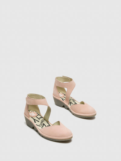 Fly London LightPink Velcro Sandals
