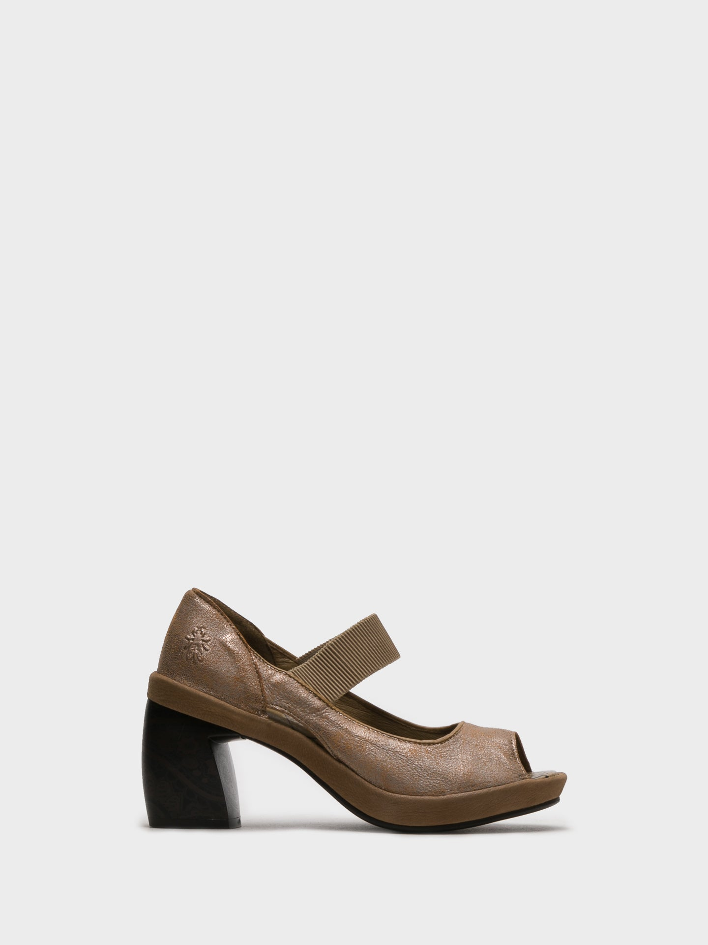 Fly London SandyBrown Chunky Heel Sandals