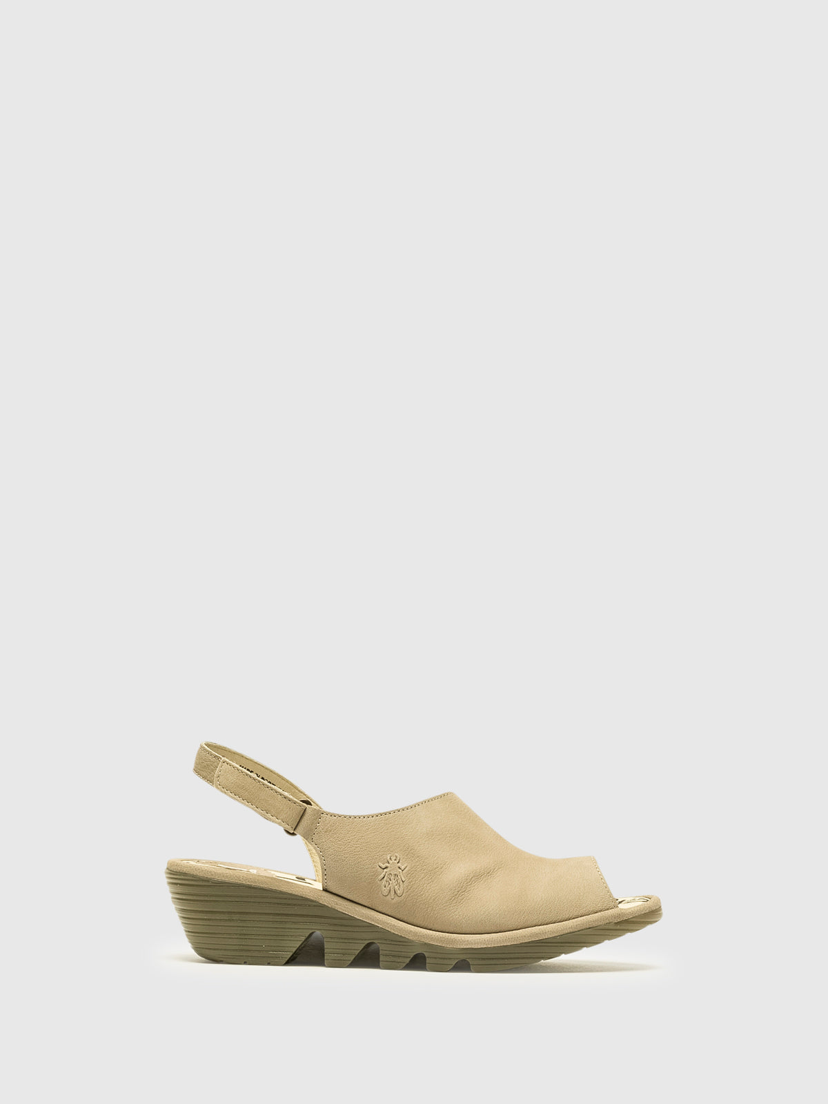 Fly London Tan Velcro Sandals