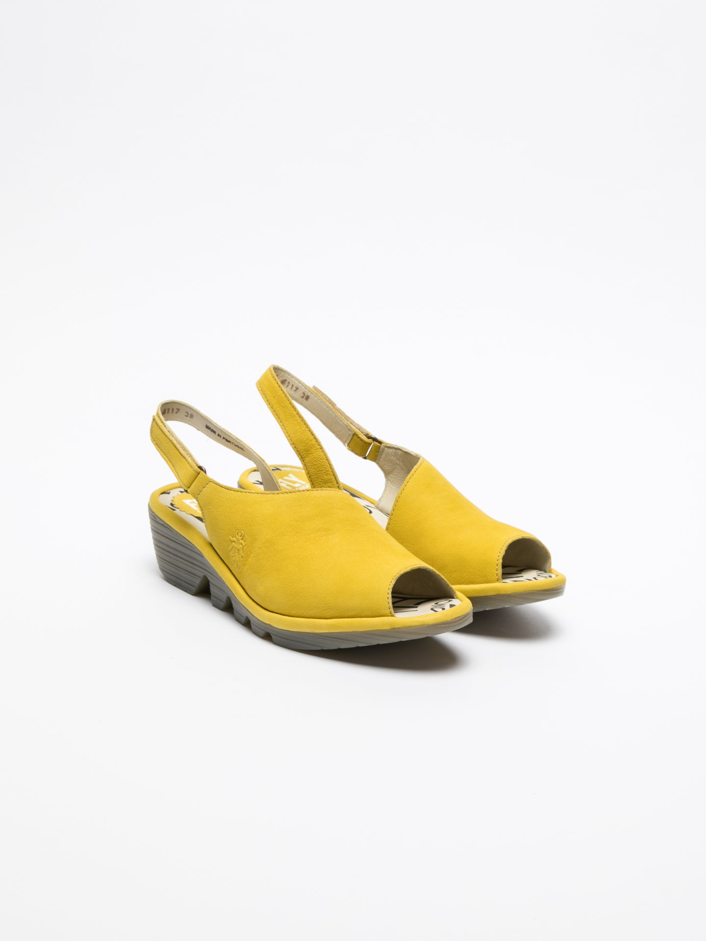 Fly London LightYellow Velcro Sandals