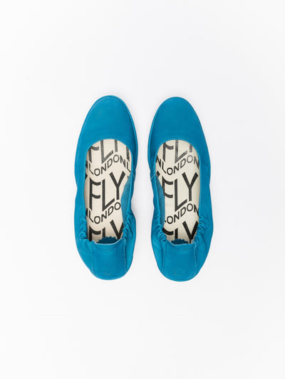 Fly London Blue Wedge Ballerinas