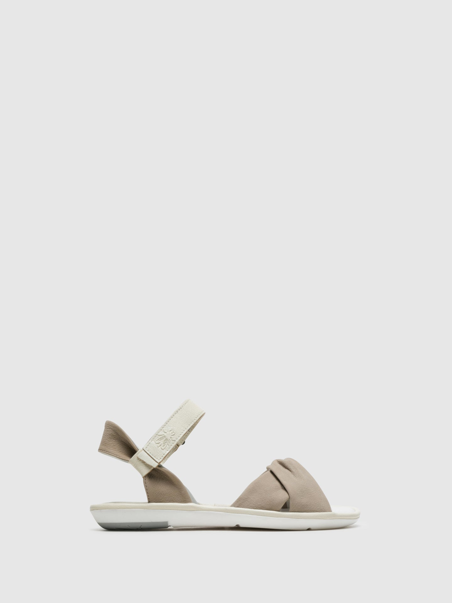 Fly London Beige Velcro Sandals