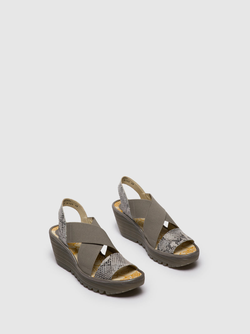 LightGray Crossover Sandals
