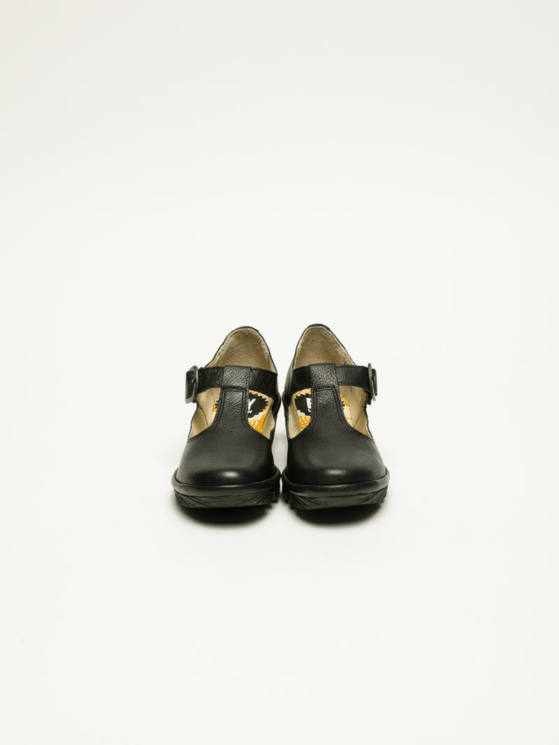 Fly London Black Mary Jane Shoes