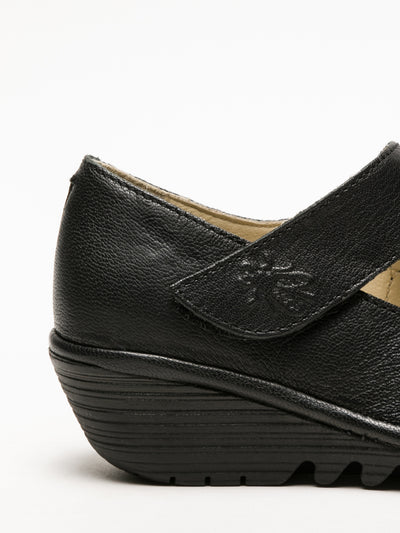 Fly London Coal Black Mary Jane Shoes