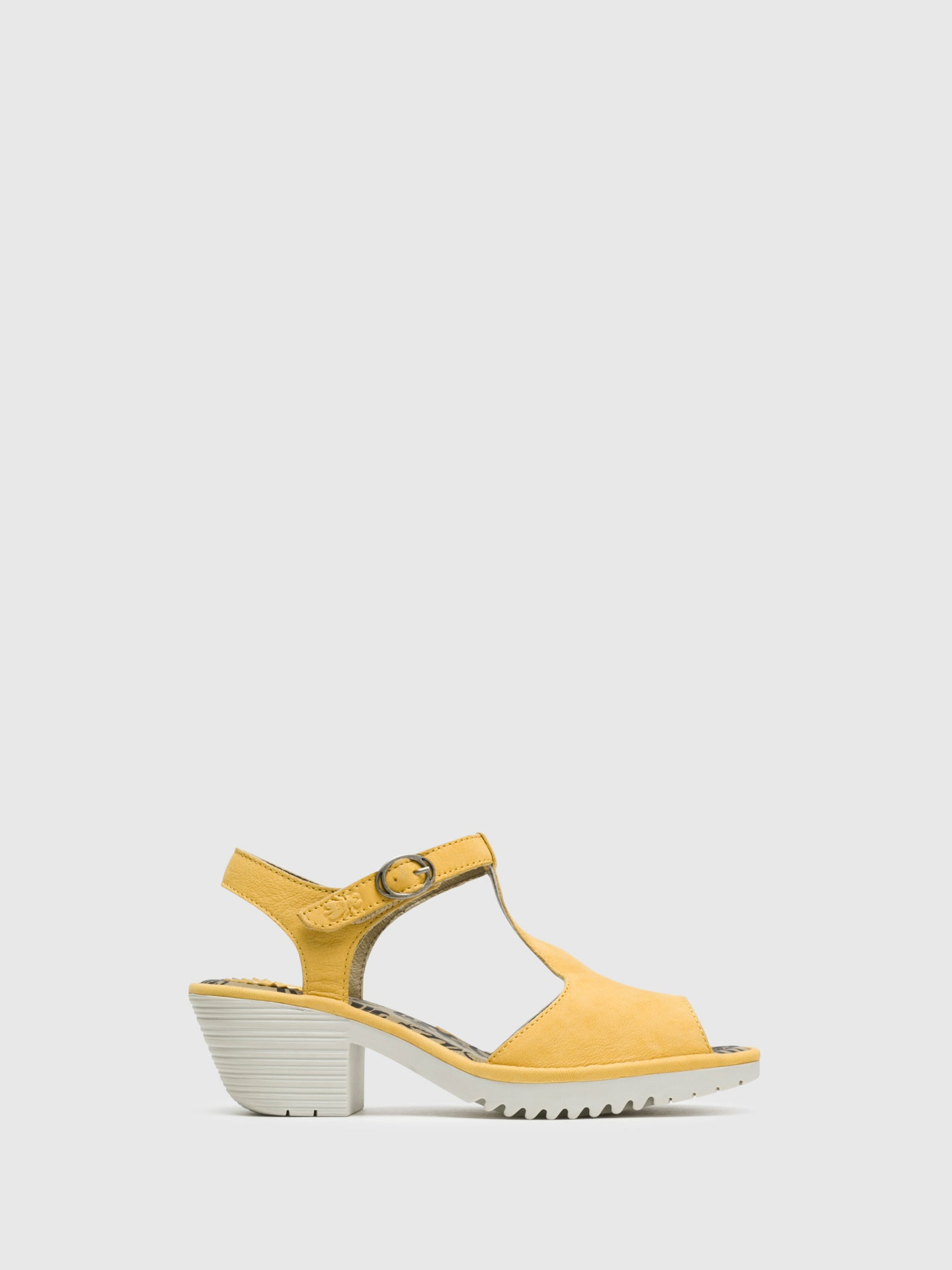 Fly London Yellow T-Strap Sandals