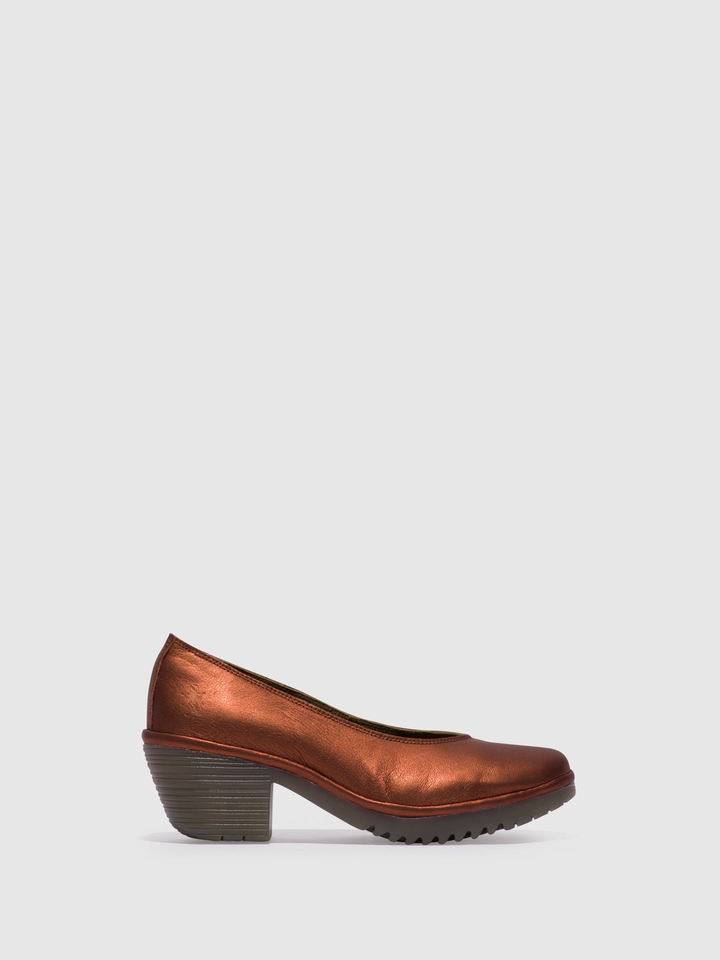 Fly London RosyBrown Round Toe Pumps