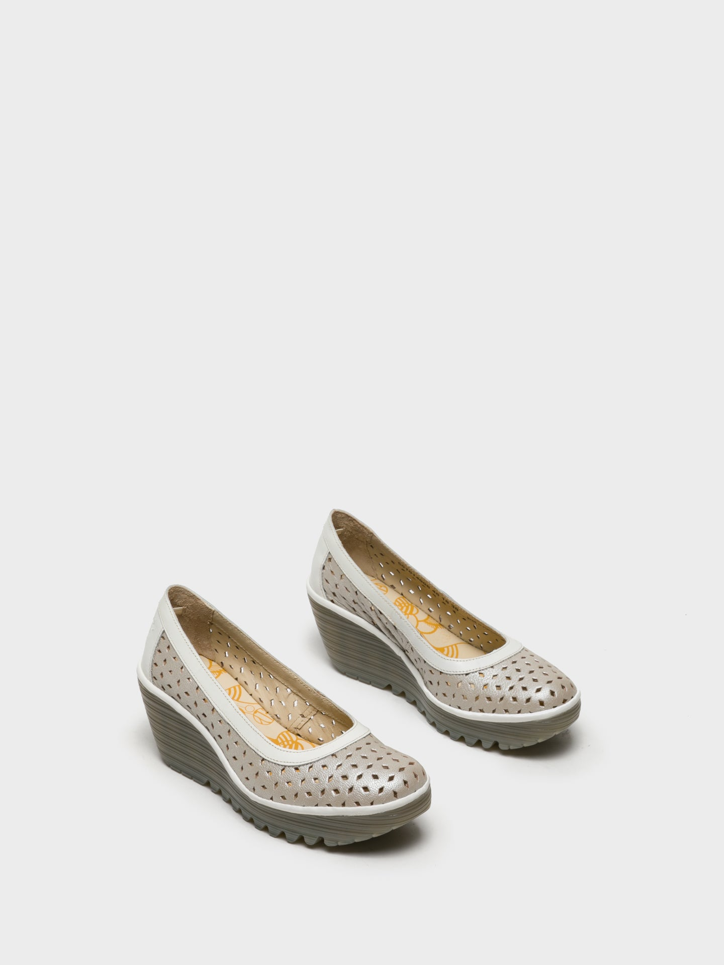 Fly London Wedge Shoes YTEC014FLY Silver