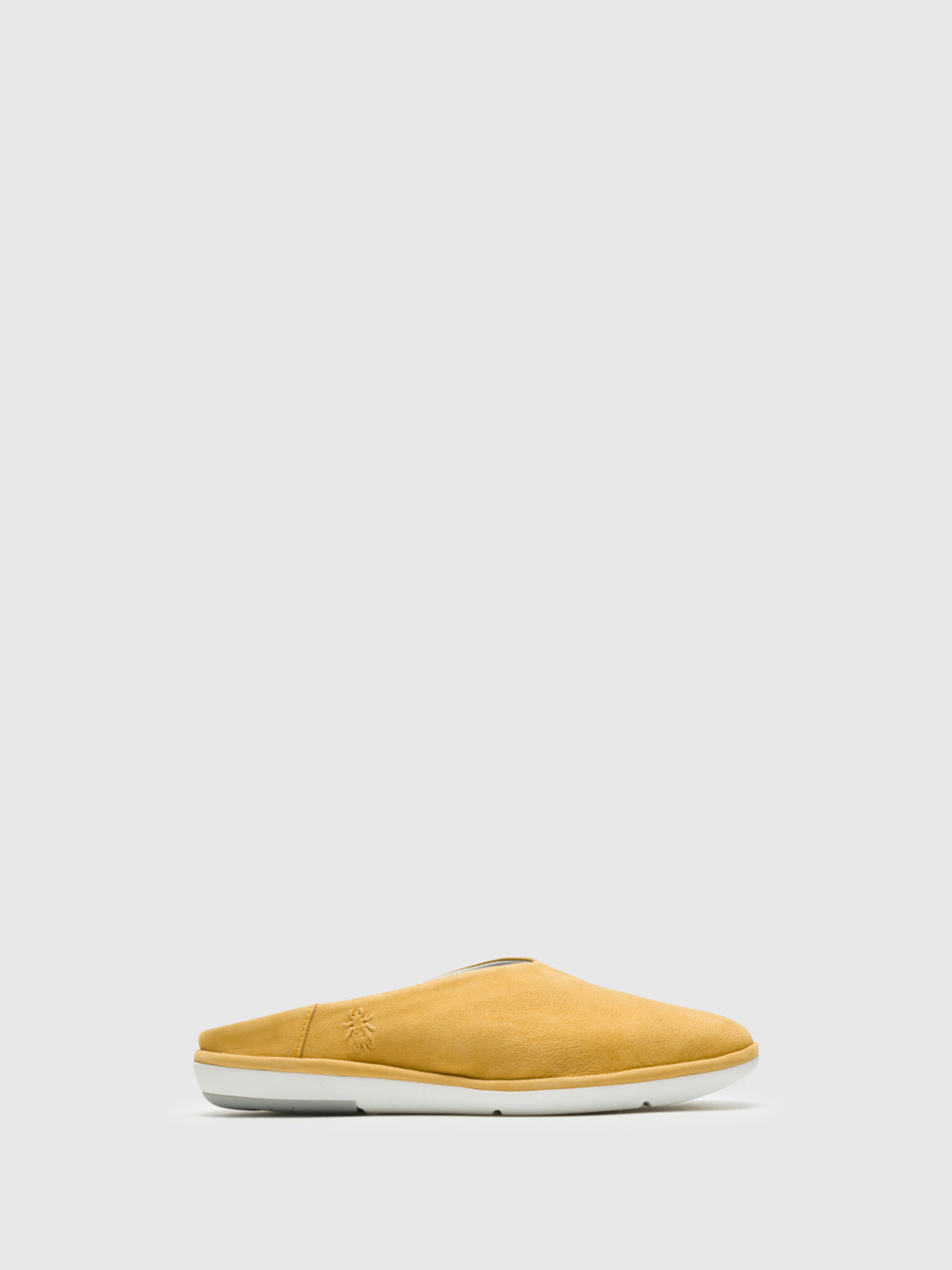 Fly London Yellow Round Toe Mules