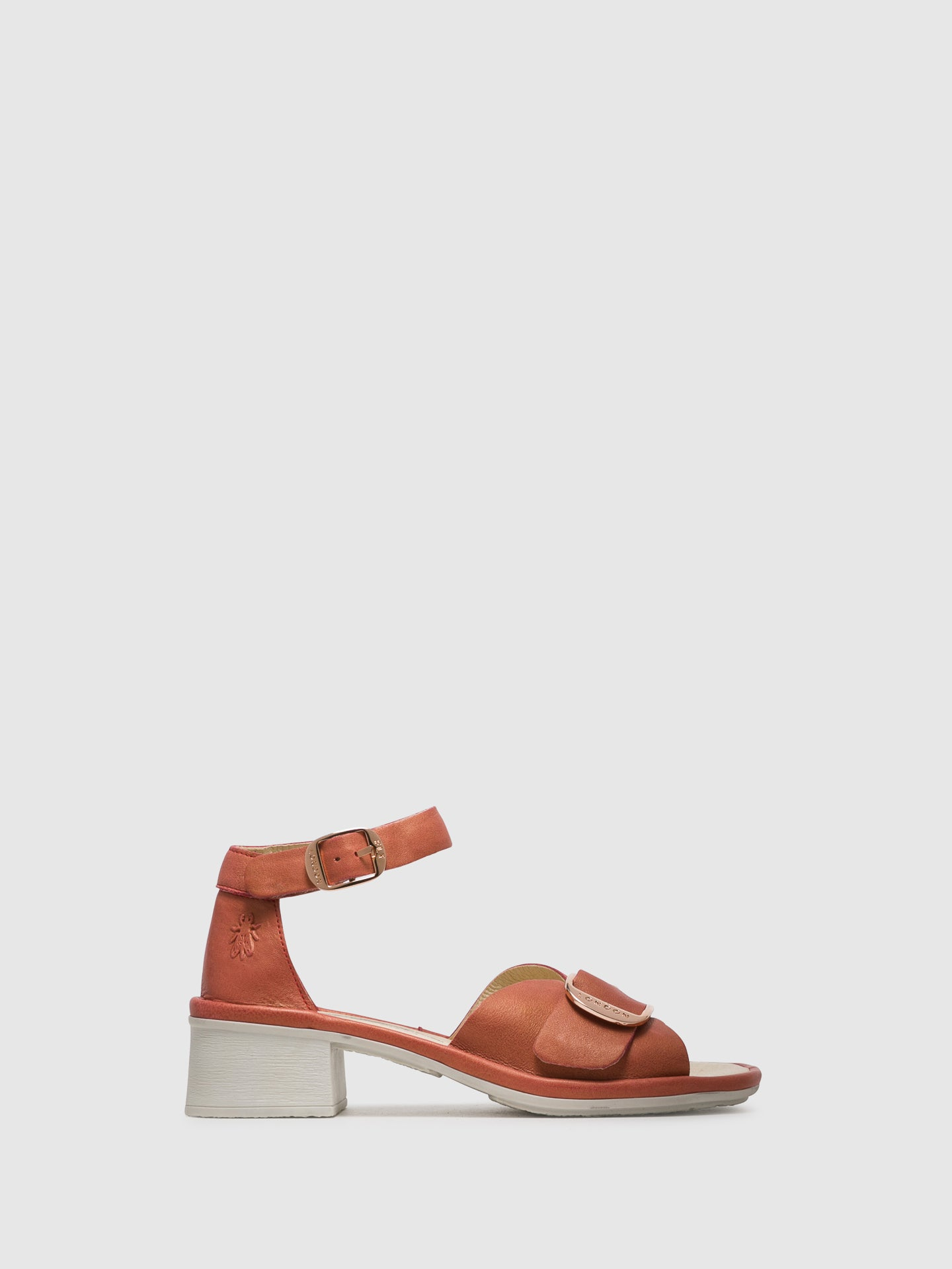Fly London Pink Buckle Sandals