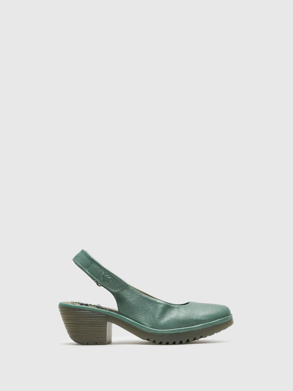 Fly London Green Sling-Back Pumps Shoes
