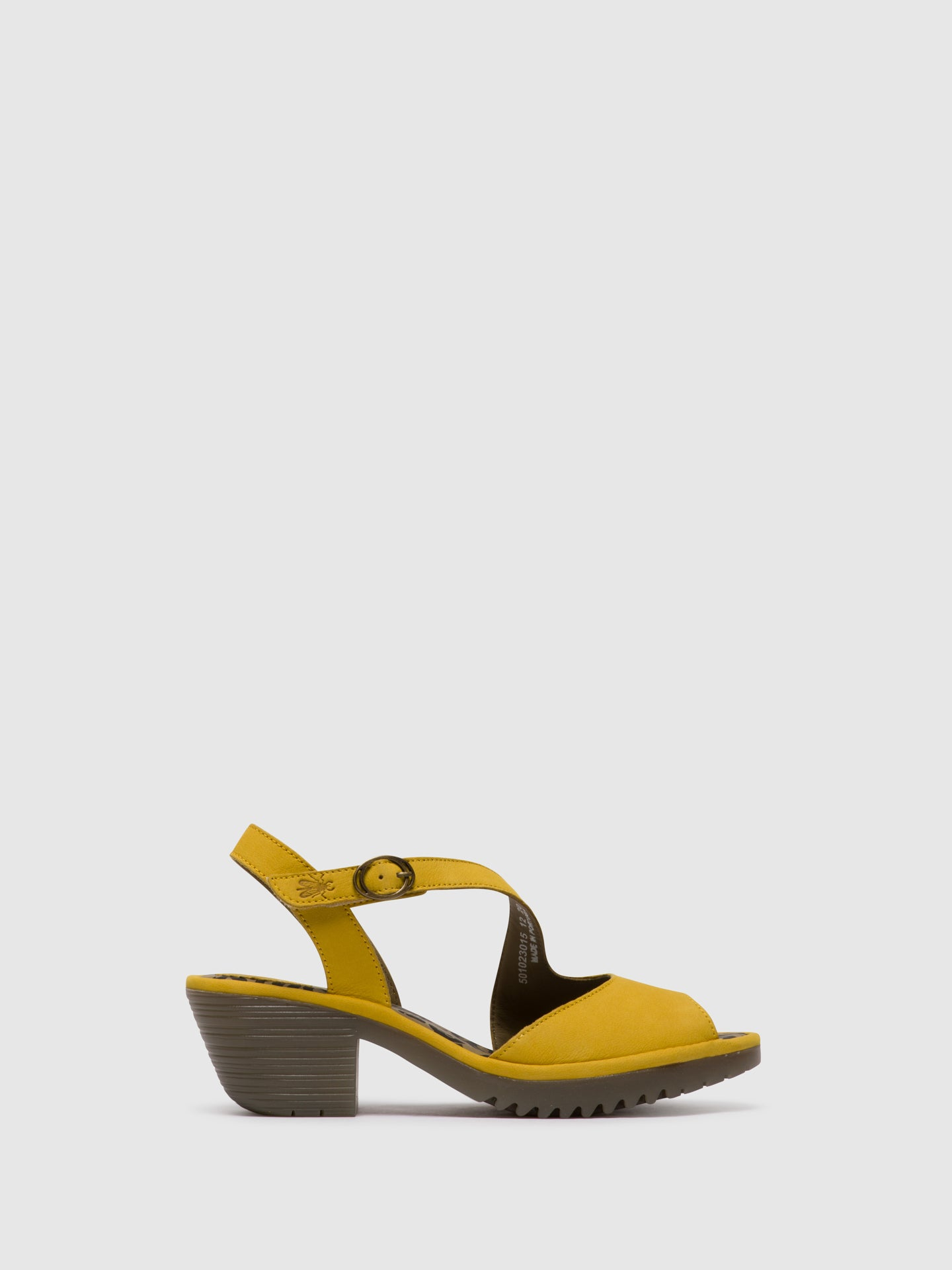 Fly London Velcro Sandals WYNO023FLY BRIGHT YELLOW