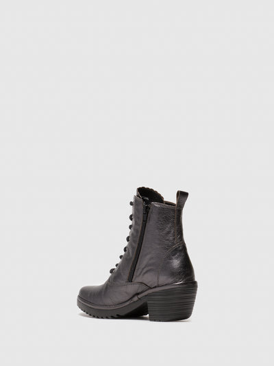 Fly London DarkGray Lace-up Ankle Boots