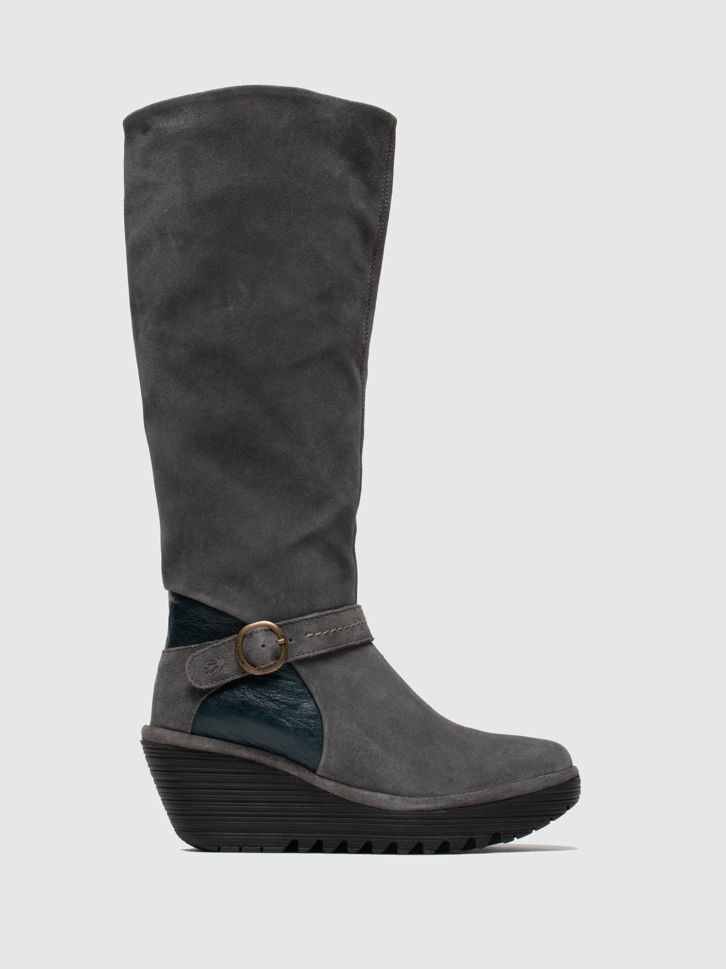 Fly London Buckle Boots YAVU084FLY DIESEL/DK PETROL