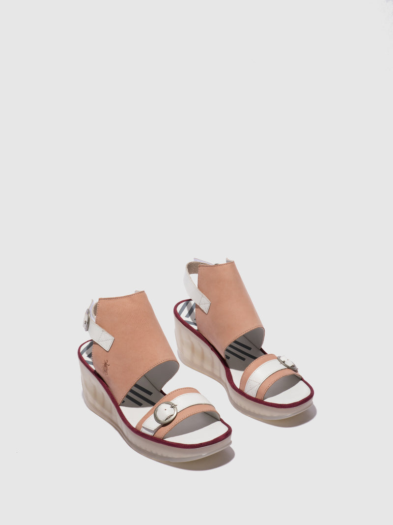 Fly London Ankle Strap Sandals JENO104FLY NUDE PINK/OFFWHITE