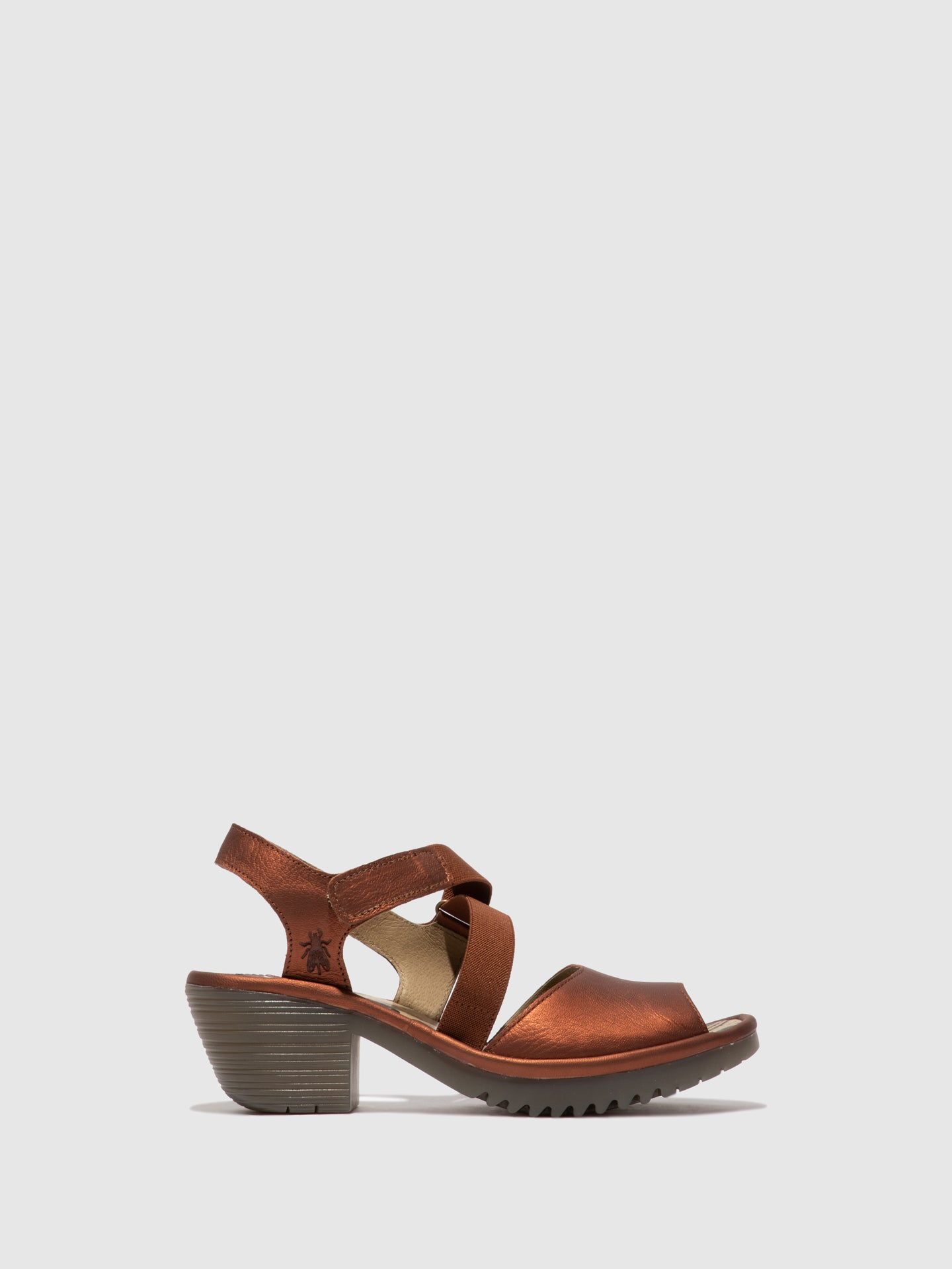 Fly London Velcro Sandals WUNI135FLY COPPER
