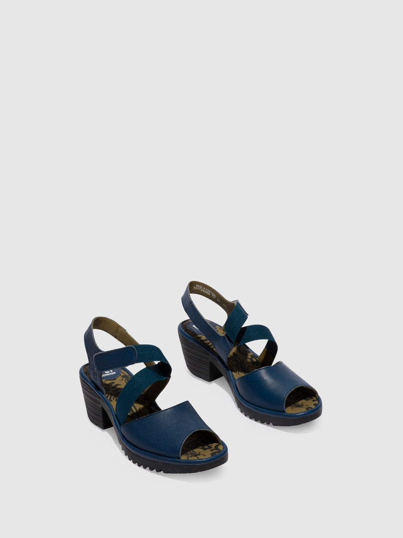 Fly London Blue Velcro Sandals