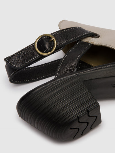 Fly London Silver Velcro Sandals