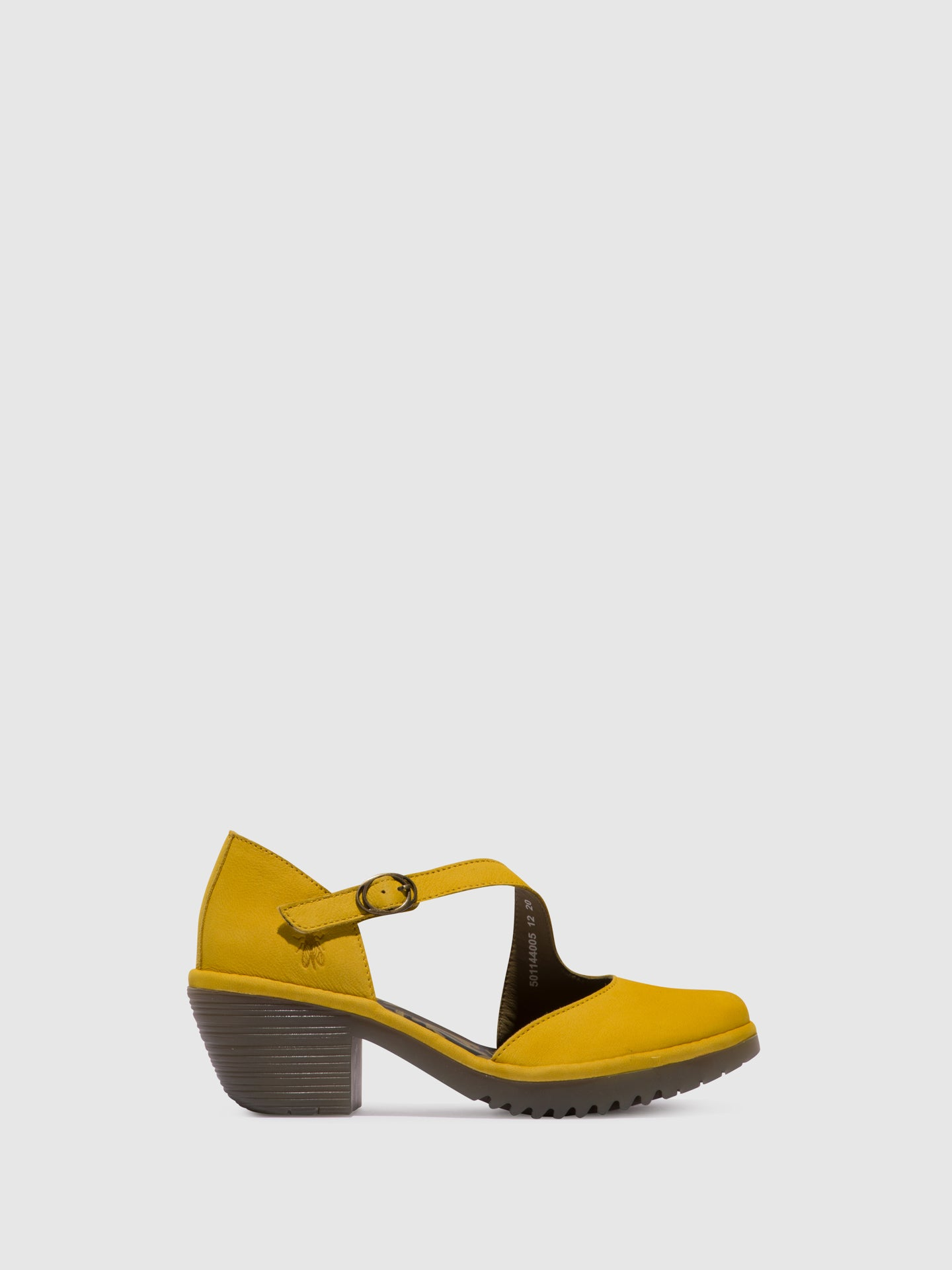 Fly London Yellow Velcro Sandals