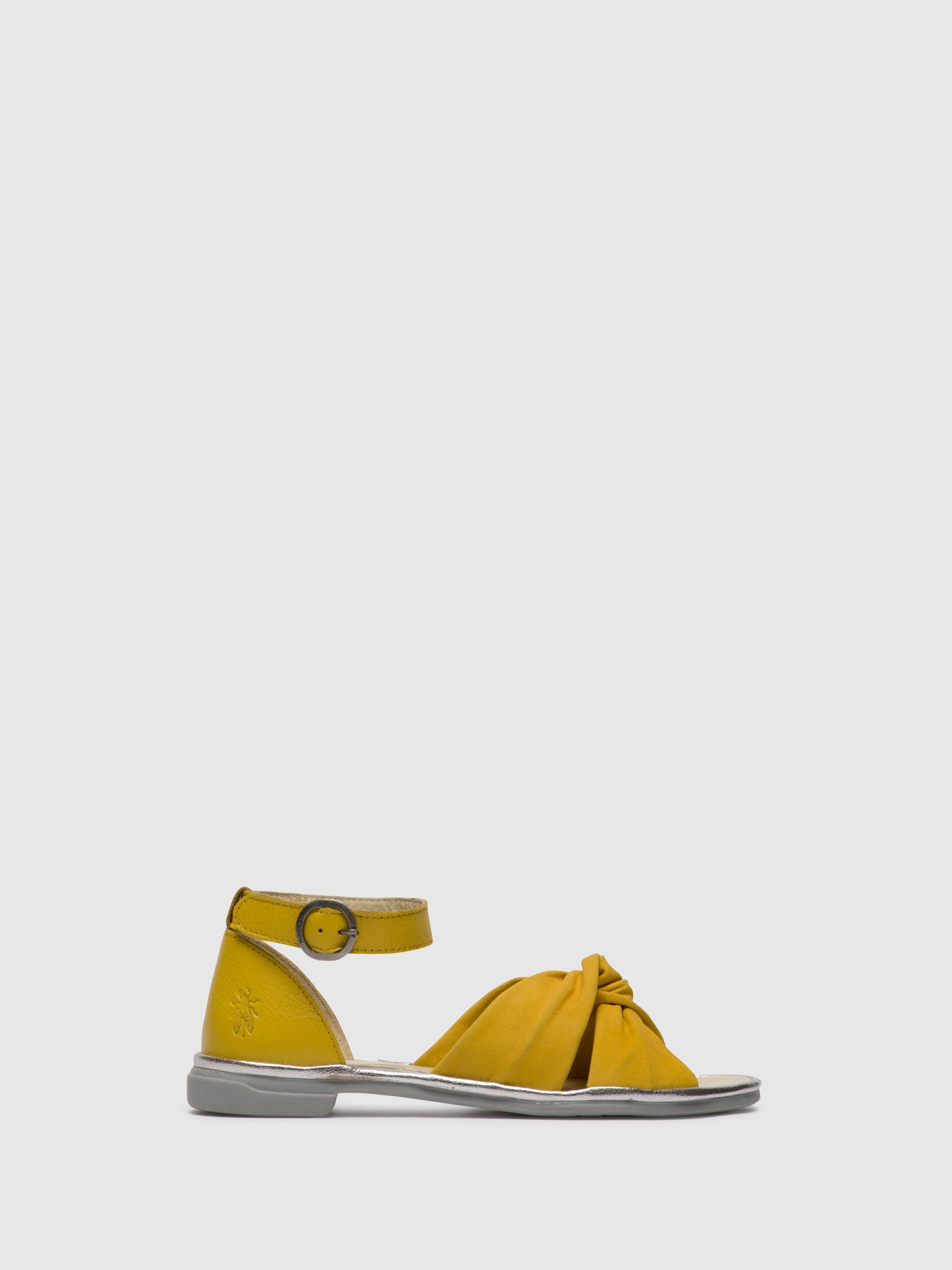 Fly London Yellow Ankle Strap Sandals