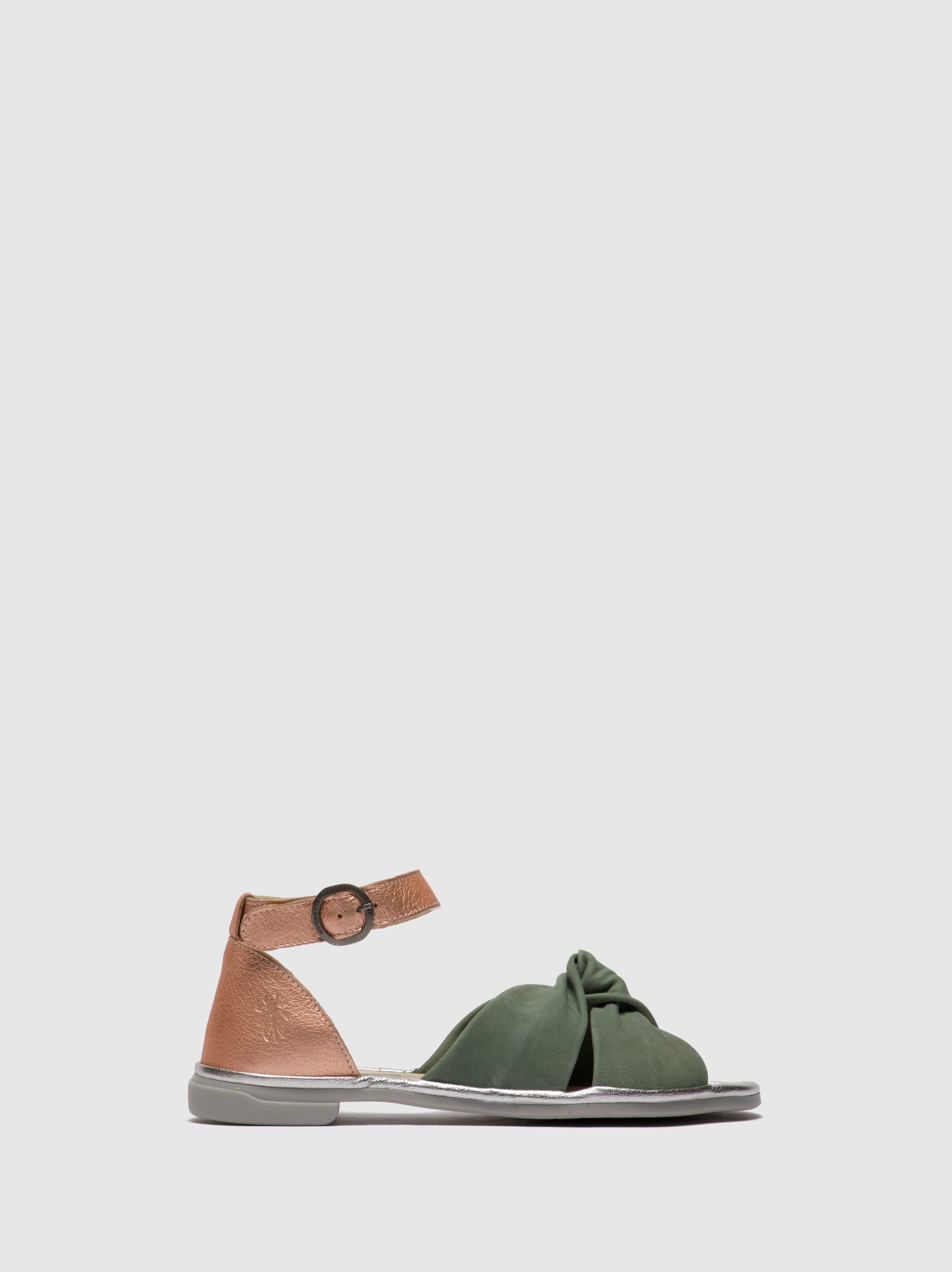 Fly London PaleGreen Ankle Strap Sandals