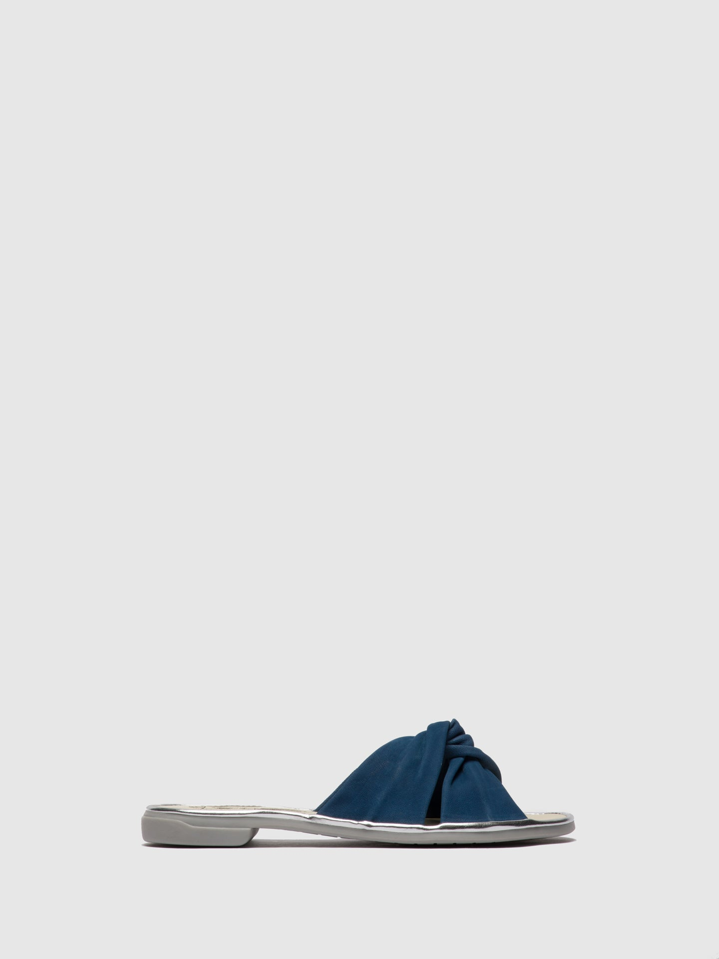 Fly London Blue Flat Mules