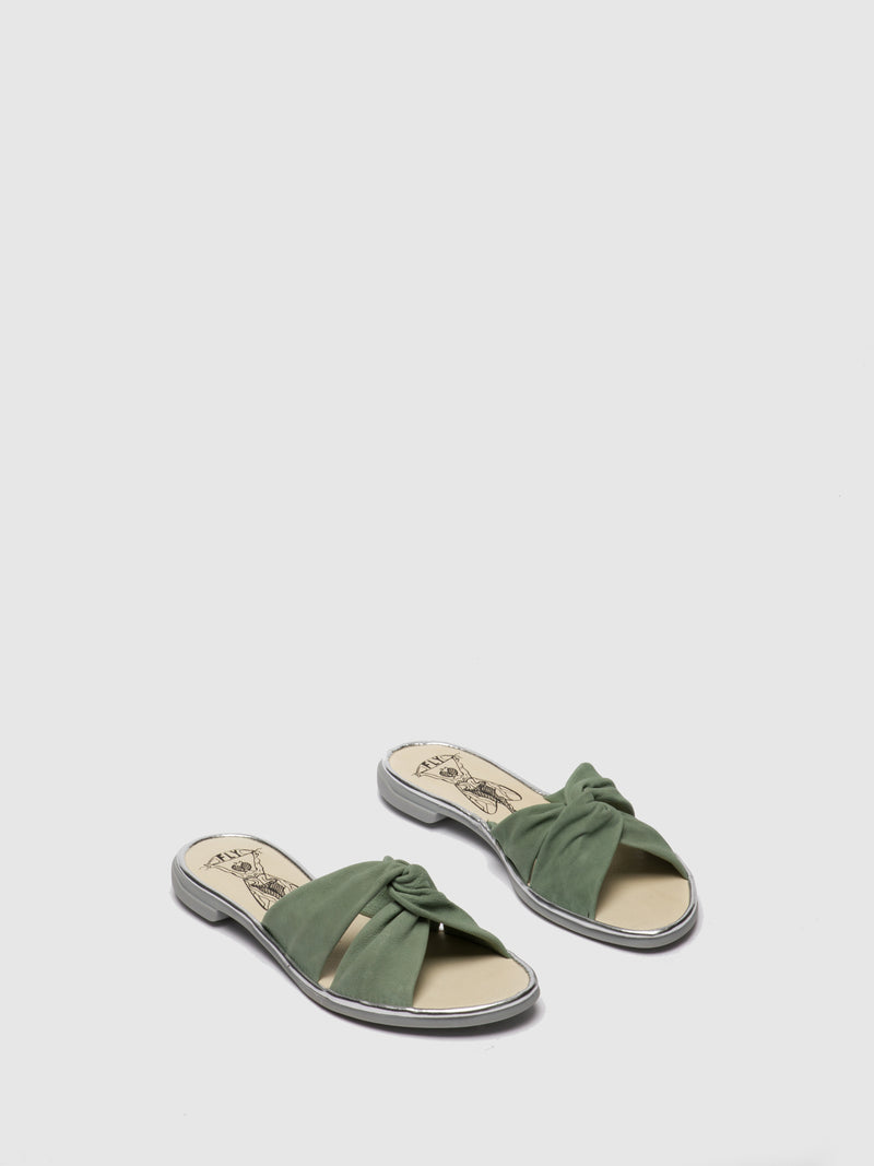 Fly London PaleGreen Flat Mules