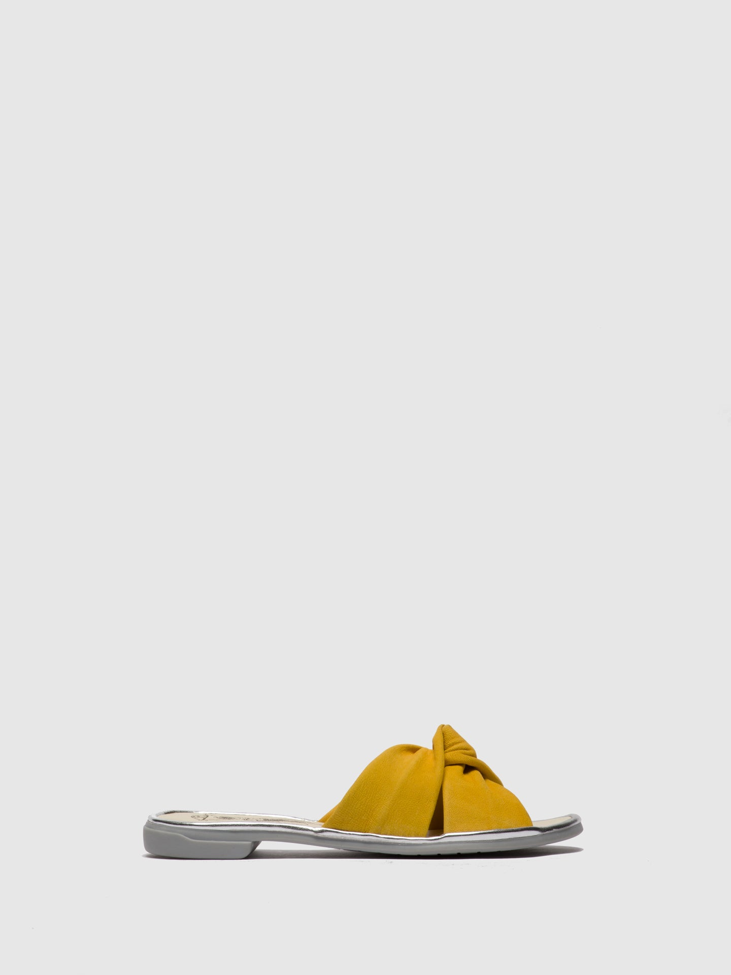 Fly London Yellow Flat Mules