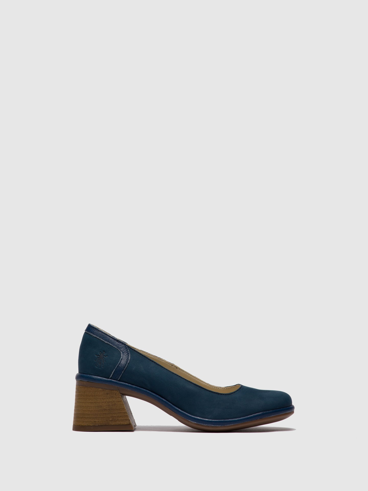 Fly London Blue Chunky Heel Shoes