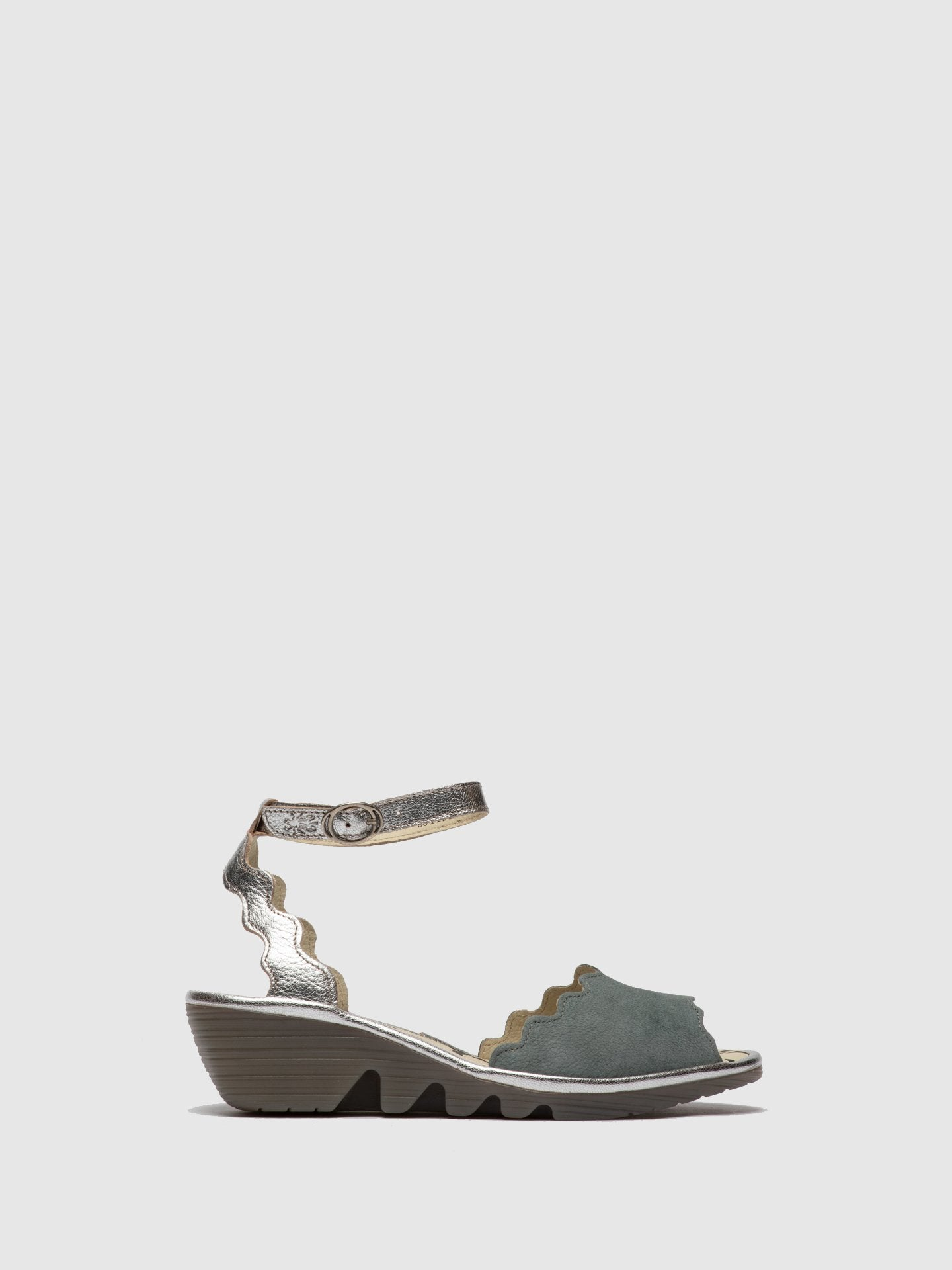 Fly London LightBlue Ankle Strap Sandals