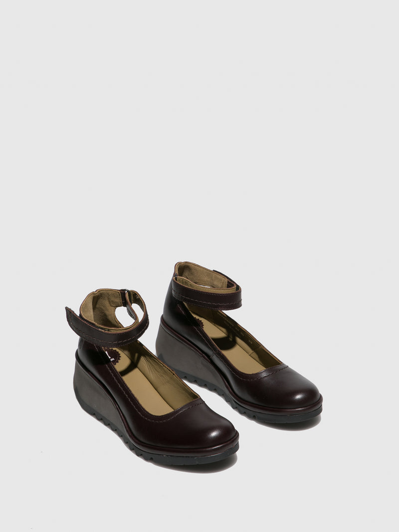 Fly London Ankle Strap Shoes NAME194FLY COLUMBIA WINE