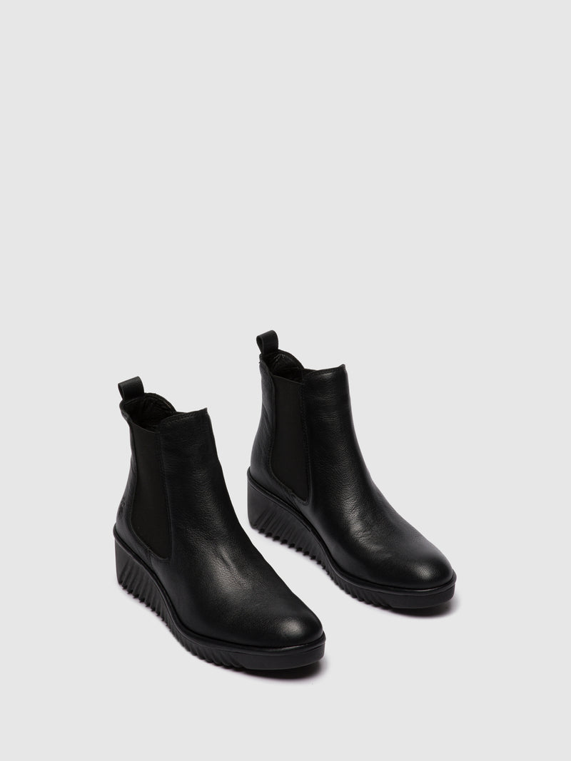 Fly London Chelsea Ankle Boots LITA229FLY MOUSSE BLACK