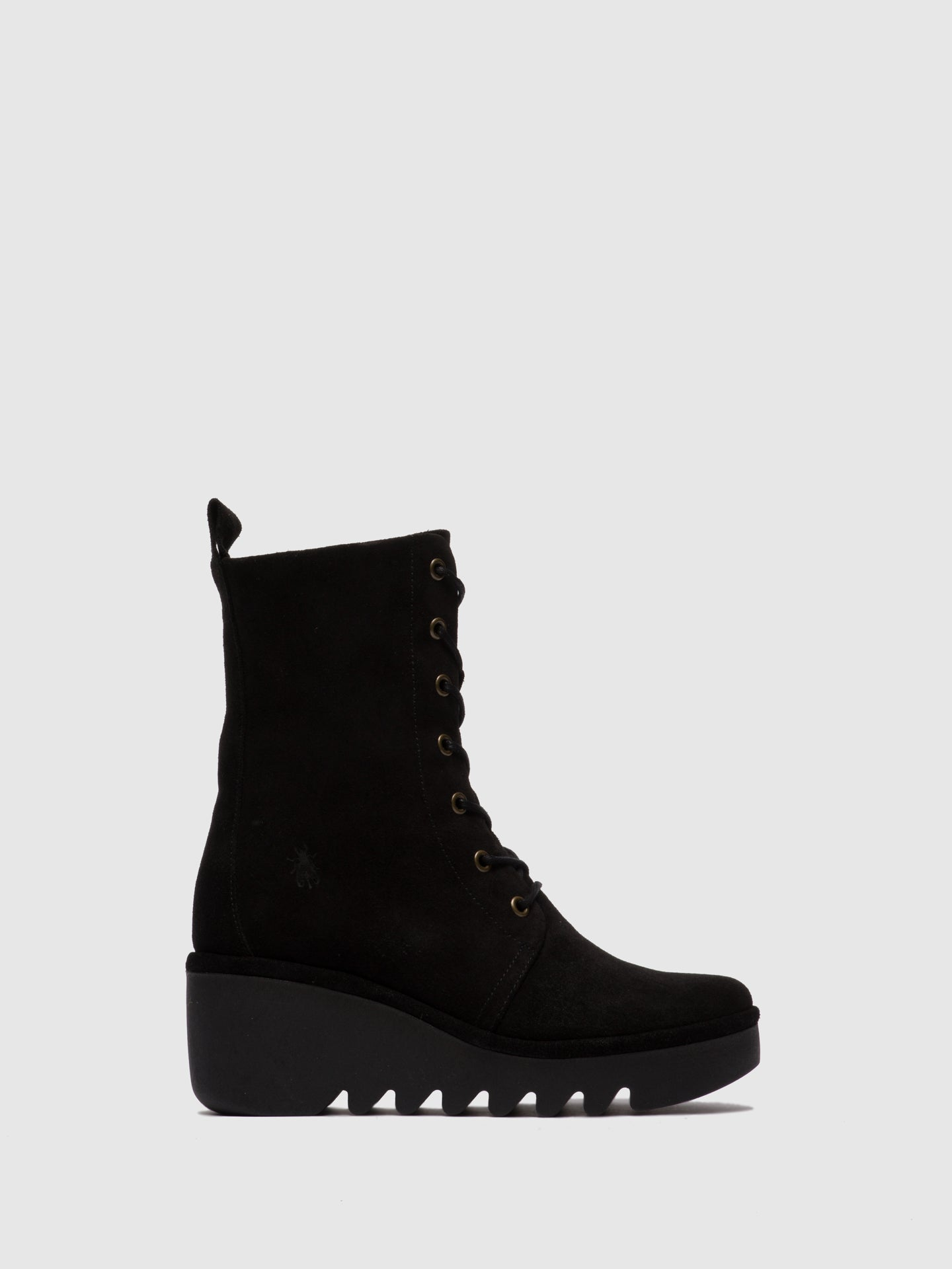 Fly London Lace-up Ankle Boots BIRD241FLY OILSUEDE & BLACK
