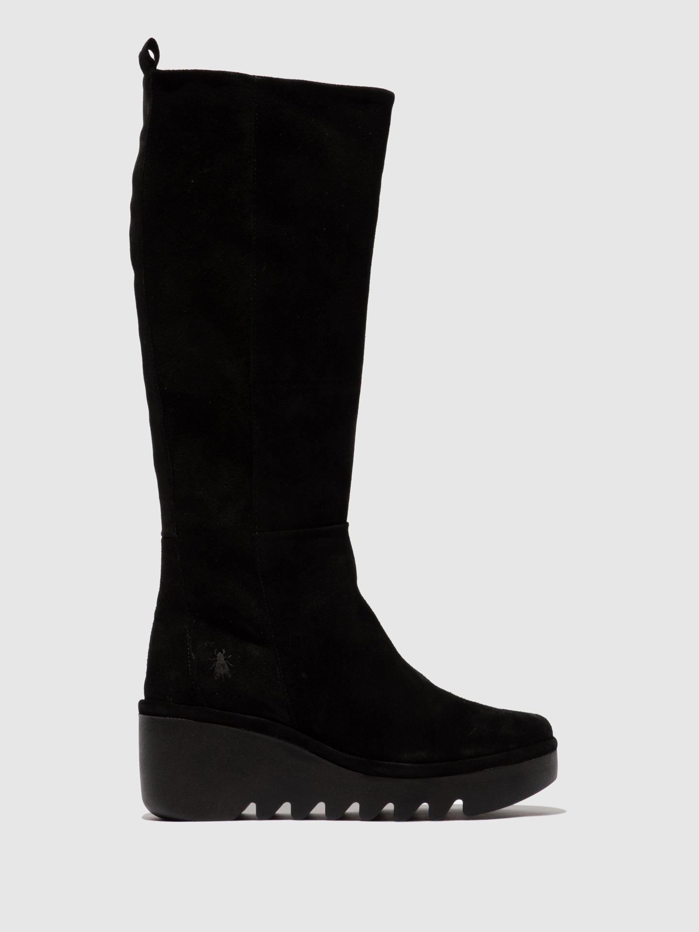 Fly London Zip Up Boots BARV251FLY OILSUEDE BLACK