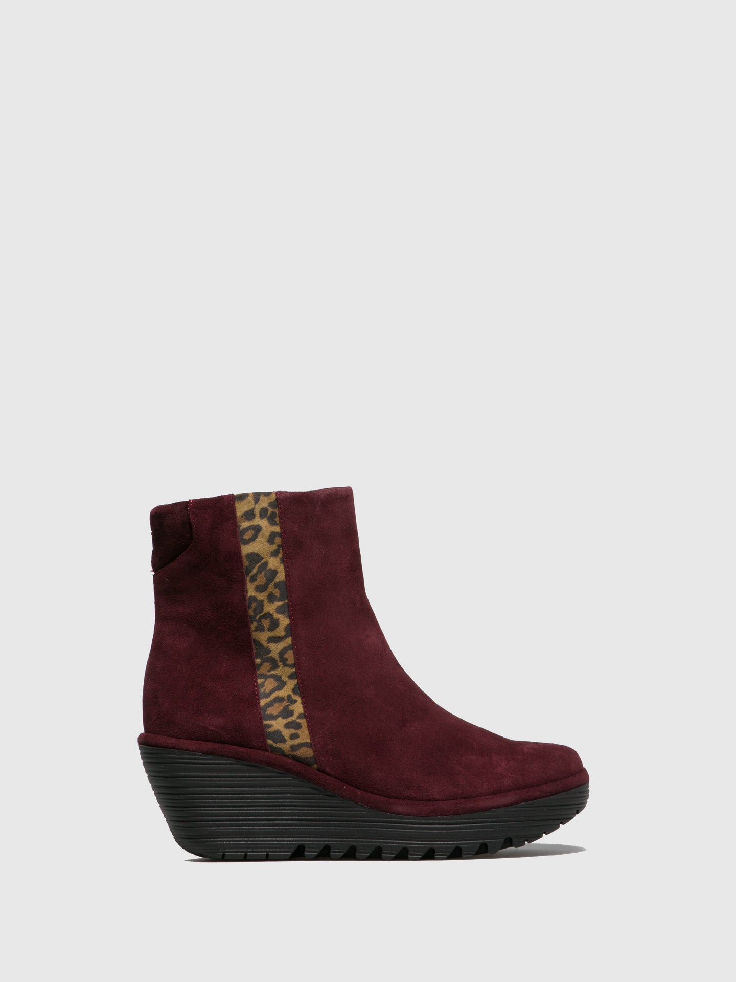 Fly London Zip Up Ankle Boots YULU252FLY OILSUEDE/CHEETAH WINE/TAN