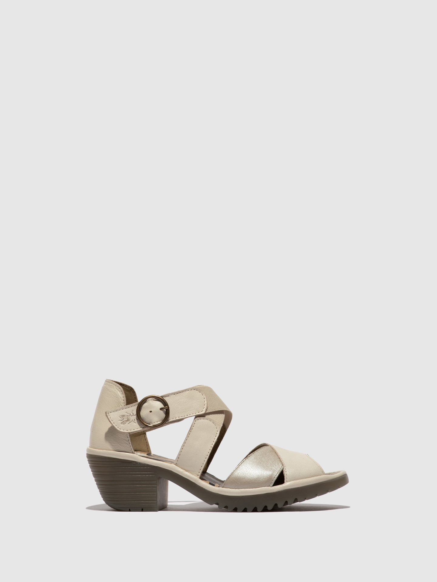 Fly London Crossover Sandals WAID291FLY MOUSSE/BORGOGNA OFFWHITE/SILVER