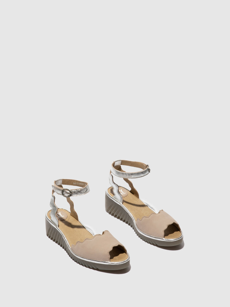 Fly London Ankle Strap Sandals LUME319FLY CUPIDO/IDRA  CONCRETE/SILVER