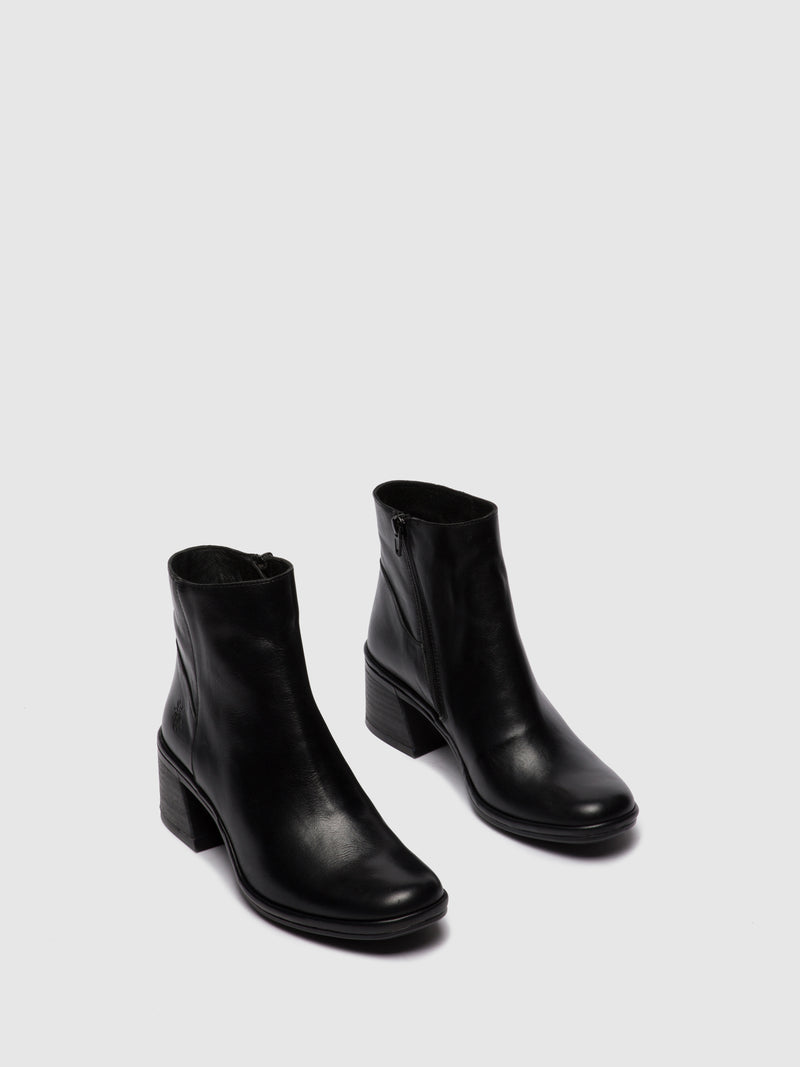 Fly London Zip Up Ankle Boots LAPA522FLY COLUMBIA BLACK