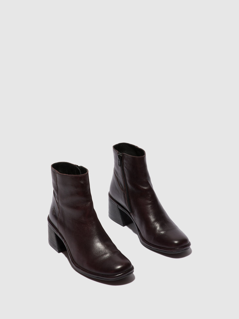 Fly London Zip Up Ankle Boots LAPA522FLY COLUMBIA WINE