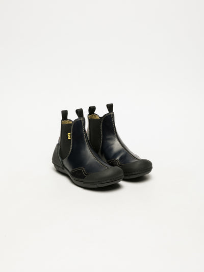 Fly London Navy Chelsea Ankle Boots