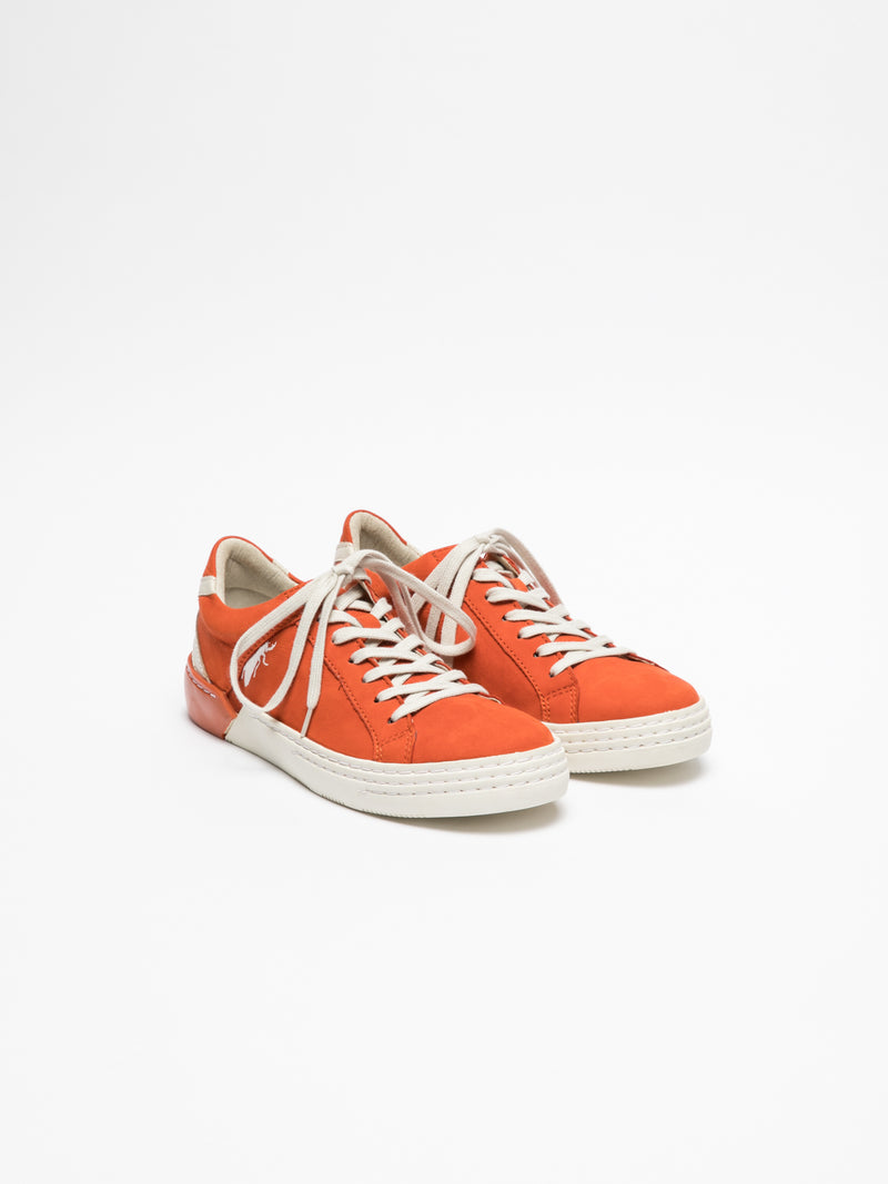 Orange Lace-up Trainers