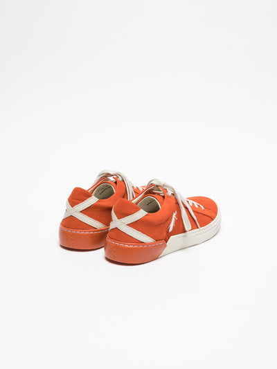 Fly London Orange Lace-up Trainers