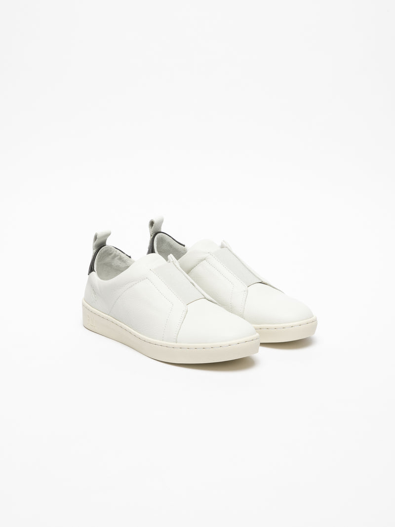 White Elasticated Trainers