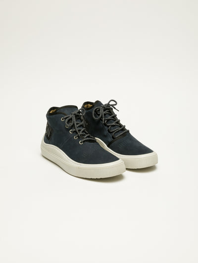 Fly London Navy Hi-Top Trainers