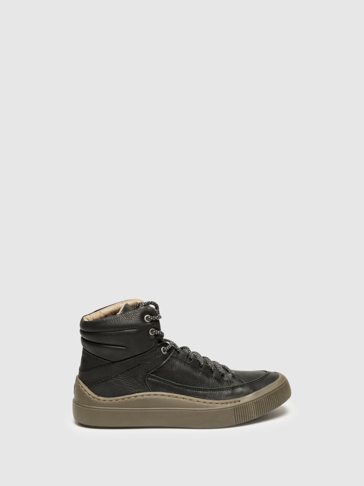 Fly London Black Hi-Top Trainers