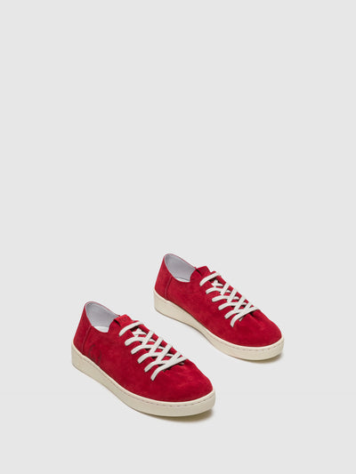 Fly London Red Lace-up Trainers