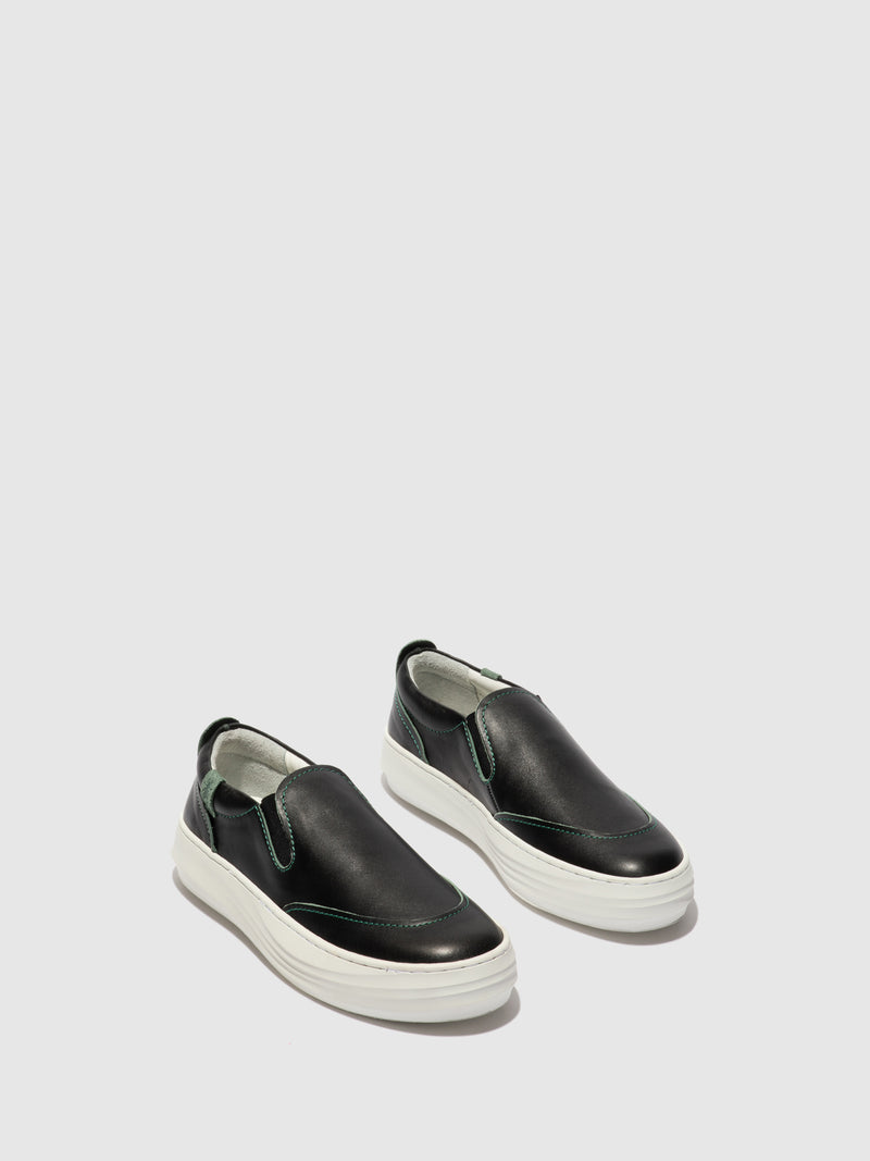 Fly London Slip-on Trainers CEZI423FLY BLACK/GREEN