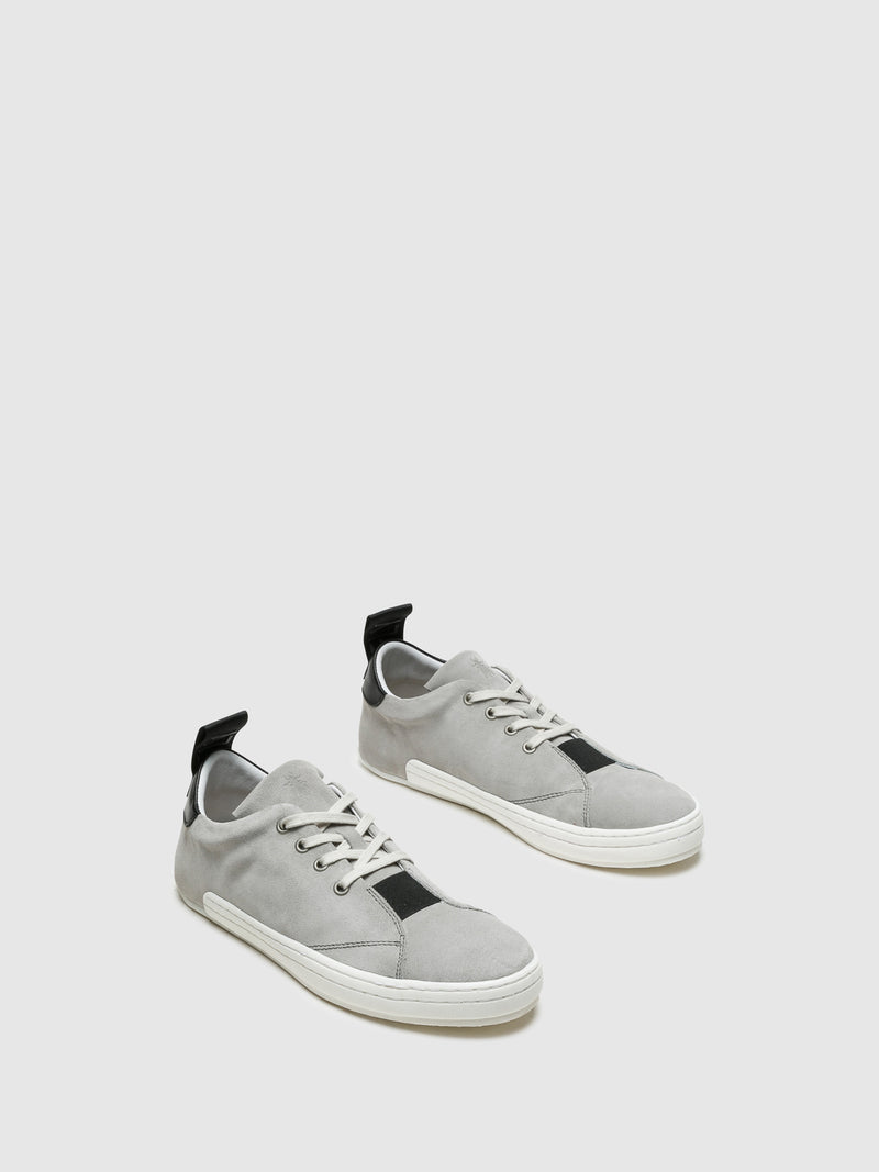 Gray Lace-up Trainers