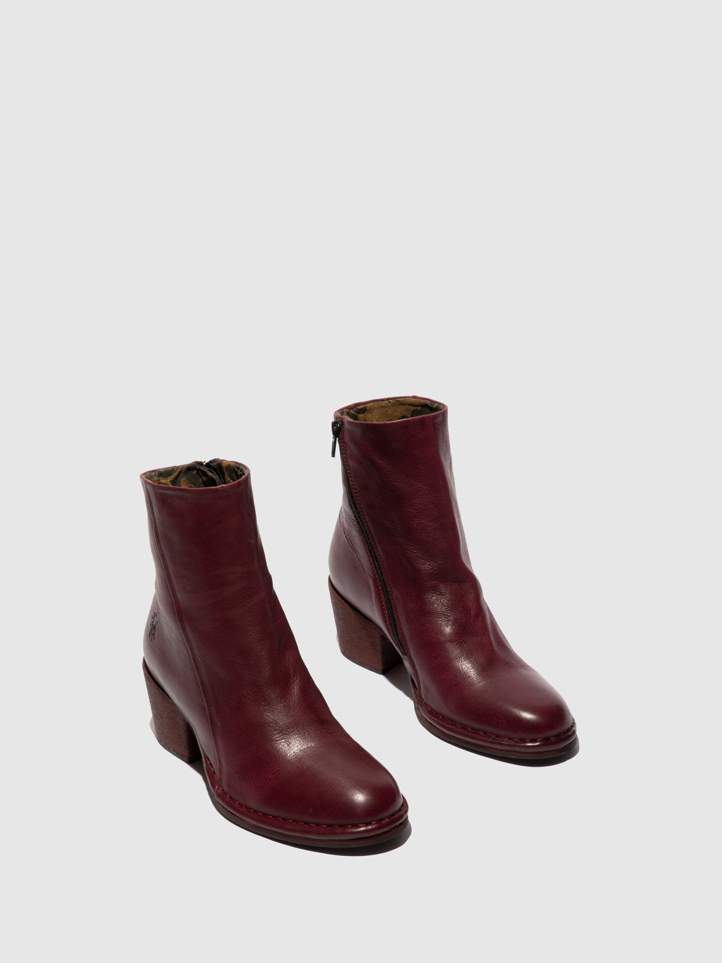Fly London Zip Up Ankle Boots LUPE233FLY VERONA WINE